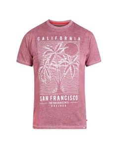 Duke Herren T-Shirt Oscar mit San-Francisco-Print, Übergrößen