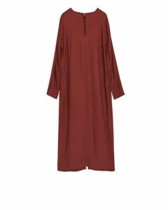 Fluid Long Sleeve Dress Red
