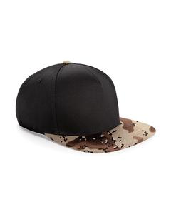Beechfield Camouflage Retro Baseball-Kappe mit Tarnmuster (2 Stück/Packung)