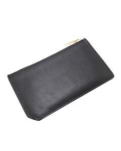 Ysl Leather Card Case Black
