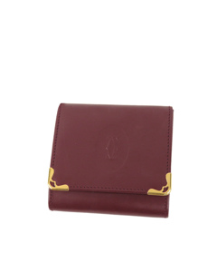 Cartier Must De Cartier Leather Coin Pouch Red