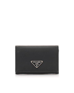 Prada Tessuto Card Holder Black
