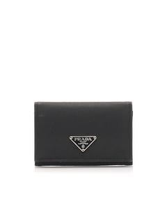 Prada Tessuto Card Holder Black