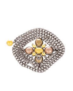 Chanel Embellished Cc Chain Belt Silver