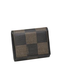 Fendi Tri-fold Pequin Small Wallet Brown