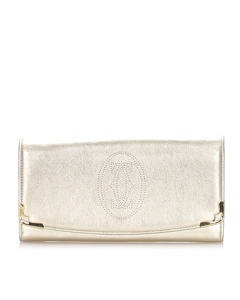 Cartier Marcello Leather Long Wallet Gold