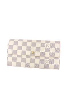 Louis Vuitton Damier Azur Sarah Long Wallet White