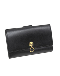 Fendi By The Way Leather Long Wallet Black