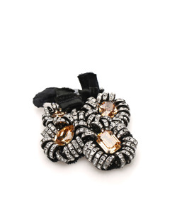 Prada Rhinestone Brooch Orange