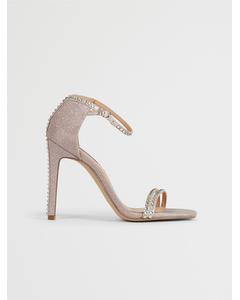 Collette Sandal Blush glitter