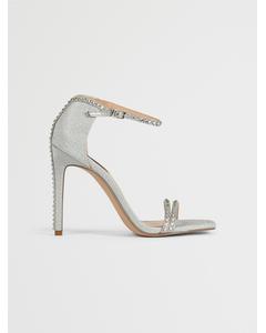 Collette Sandal Silver glitter