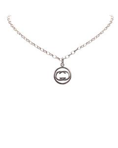 Gucci Interlocking G Pendant Necklace Silver