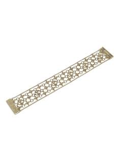 Louis Vuitton Brass Filigram Bracelet Gold