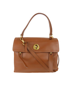 Ysl Muse Two Leather Satchel Brown
