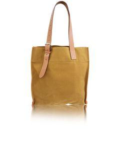 Etrivière Einkaufstasche aus Segeltuch und Rindsleder