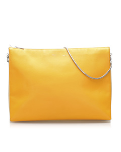 Celine Trio Chain Leather Shoulder Bag Yellow
