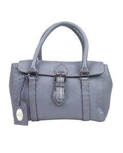 Fendi Mini Selleria Linda Leather Handbag Purple