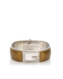 Gucci Leather Bracelet Brown