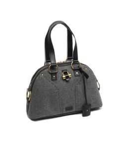 Ysl Muse Wool Handbag Gray