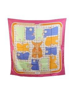 Hermes Multicolor Silk Scarf Mod: Camails