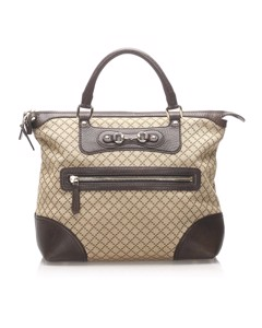 Gucci Diamante Horsebit Catherine Tote Bag Brown