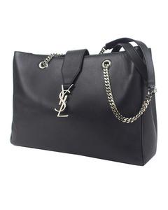 Ysl Cassandre Shopping Tote Bag Black