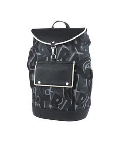 Ferragamo Logo Canvas Backpack Black