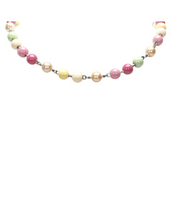 Chanel Faux Pearl Necklace Pink