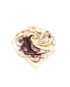 Louis Vuitton Printed Silk Scarf White