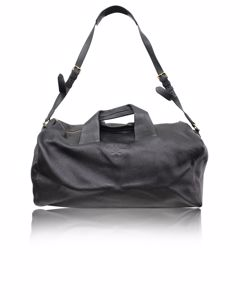 Black Vitello Daino Duffle Bag
