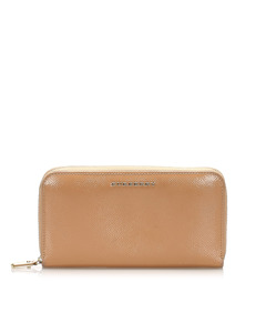 Burberry Leather Long Wallet Brown