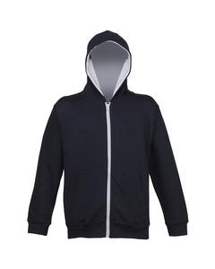 Awdis Kids Unisex Varsity Hooded Sweatshirt / Hoodie / Zoodie / Schoolwear