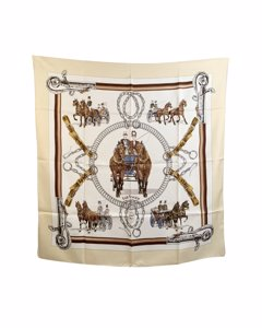 Hermes Blue Silk Scarf Modell: Equipages