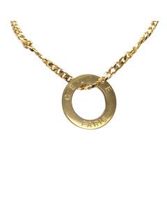 Celine Gold-tone Pendant Necklace Gold