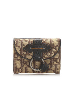 Dior Dior Oblique Canvas Wallet Brown