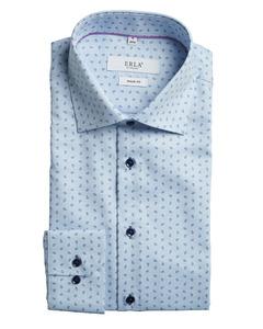 Printed Dot Shirt Light Blue