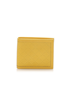 Gucci Diamante Leather Wallet Yellow
