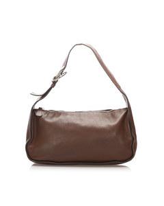 Prada Leather Baguette Brown