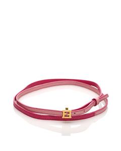 Fendi Crayons Leather Bracelet Pink
