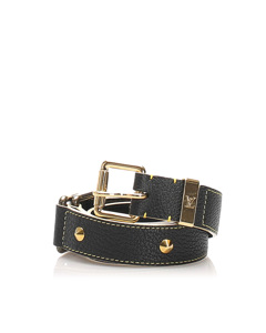 Louis Vuitton Studded Suhali Belt Black
