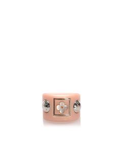 Louis Vuitton Resin Enamel Flower Ring Pink
