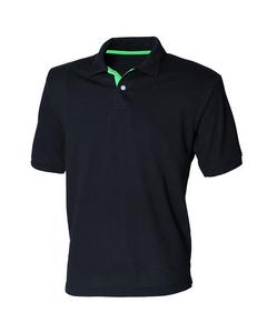 Henbury Mens Contrast 65/35 Polo Shirt