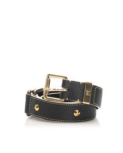 Louis Vuitton Studded Suhali Belt Black