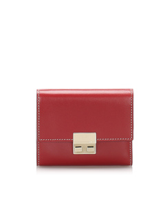 Gucci Leather Trifold Wallet Red