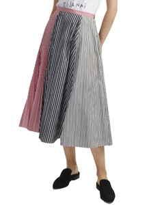 Pleated Skirt With Stripes 73lae