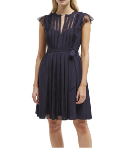 Dress With Floral Lace 71lfr