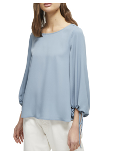 Solid Long-sleeved Blouse 72lbc