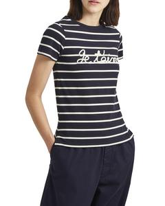 Short-sleeved Striped T-shirt 76laj