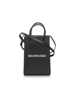Balenciaga Xxs Leather Shopping Tote Black