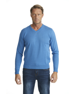V-neck Sweater Royal Blue